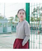 衛衣 白色衛衣女圓領韓版學生百搭短款寬鬆套頭長袖上衣服  綠光森林