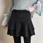 褲裙春秋冬季高腰假兩件打底褲女褲裙外穿修身一體帶裙子的連褲裙裙褲 交換禮物