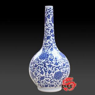 古青花瓷 指天瓶