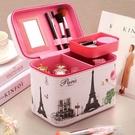 化妝包大容量韓國便攜簡約網紅女小號多功能層收納盒品2020新款箱 依凡卡時尚