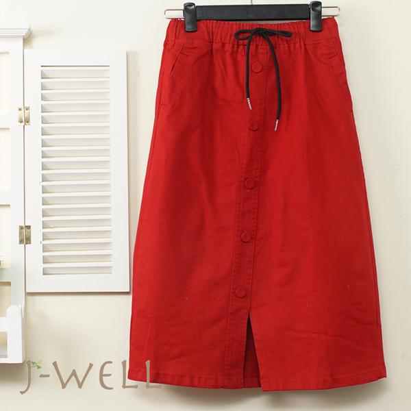 J-WELL 腰綁帶超彈力直筒顯瘦裙(3色) 9J1091
