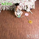 家用仿木紋泡沫拼接地墊臥室兒童拼圖防水隔音地板墊子60x60igo  3C公社