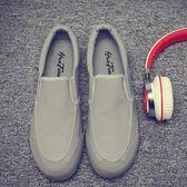 限定款帆布鞋老北京布鞋男士青年一腳蹬休閒鞋懶人潮流透氣黑色工作帆布鞋子男