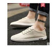 夏季男鞋透氣薄款潮鞋韓版潮流男士帆布鞋百搭休閒板鞋老北京布鞋嬡孕哺