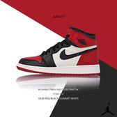 IMPACT Air Jordan 1 Retro High Bred Toe 喬丹 一代 白 黑 紅 575441-610