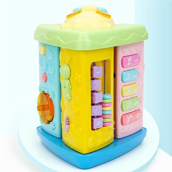 【南紡購物中心】【GCT玩具嚴選】春天寶寶益智九面屋 聲光效果益智遊戲屋