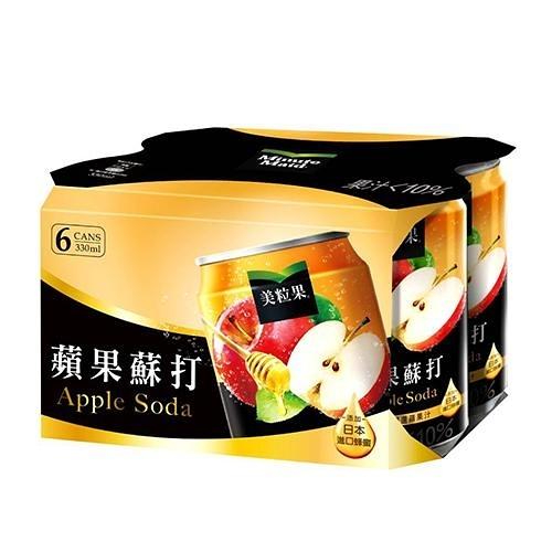 美粒果蘋果蘇打330ml x 6【愛買】