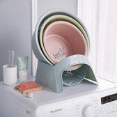 浴室臉盆架落地洗澡盆置物架吸盤式mj5292【雅居屋】TW