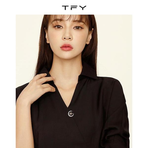 TFY星月防走光胸針扣夏高檔女夏季年新款潮固定衣服領口別針
