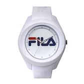 【FILA 斐樂】大錶徑簡約LOGO造型腕錶-純淨白/38-160-006/台灣總代理公司貨享兩年保固