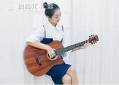 吉他初學者41寸新手入門練習琴學生女男40指彈木吉他38寸樂器 YJT 【創時代3c館】