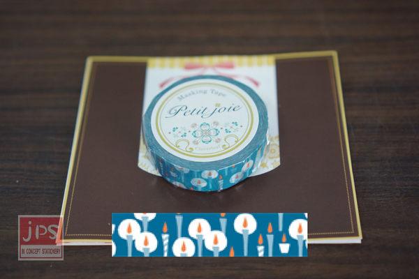 【NICHIBAN】 日絆 Petit Joie Masking Tape 和紙膠帶 點點燭光 (PJMT-15S020)