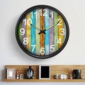 靜音鐘錶客廳時尚掛鐘 創意數字藝術壁鐘 臥室歐式大金屬錶igo