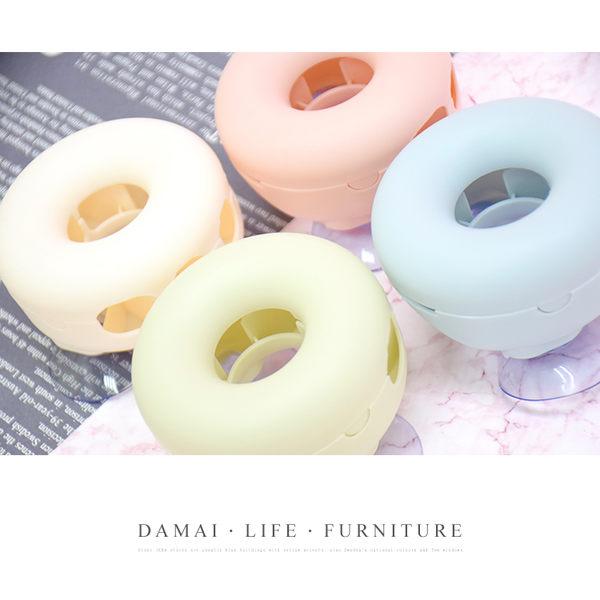 現貨 快速出貨【小麥購物】可愛甜甜圈造型吸【Y070】壁式牙刷架 顏色隨機 浴室壁掛牙刷架