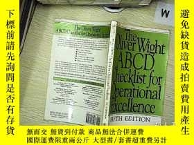 二手書博民逛書店The罕見oliver wight abcd checklist for operational excellen