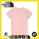 【The North Face 女LOGO攀岩排汗短袖T恤《粉紅》】4N9J-K47/短袖上衣/圓領T恤