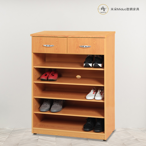 【米朵Miduo】2.7尺塑鋼開放式鞋櫃 開棚鞋櫃 防水塑鋼家具