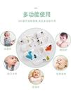 口水巾嬰兒360度旋轉圍嘴純棉紗布防水新...