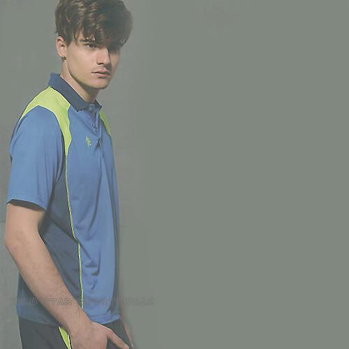 MILD STAR  男女吸濕排汗短POLO衫-寶藍#LS600105