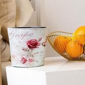 歐式 桌面小垃圾桶盒小號迷你桌上可愛桌茶几餐桌家用客廳北歐MOON 衣櫥