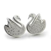 耳環 925純銀鑲鑽-耀眼迷人生日母親節禮物女飾品2色73dm19【時尚巴黎】