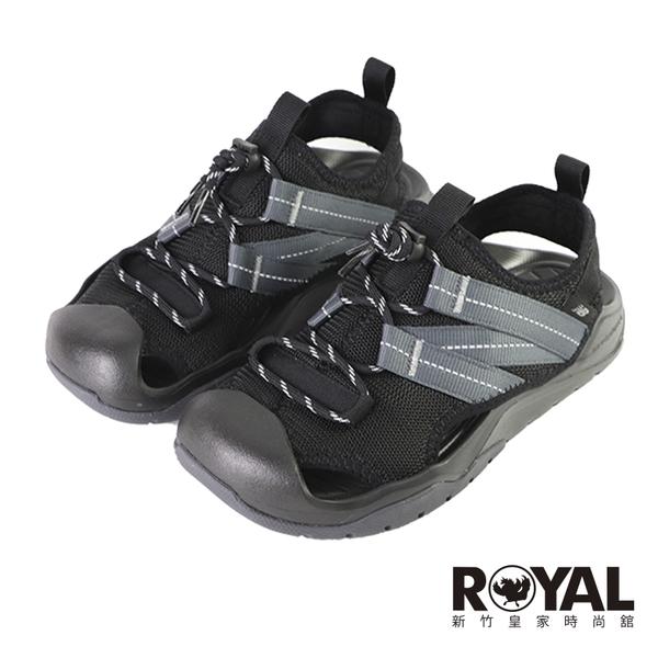 New Balance 黑色 機能 厚底 護趾 穩定 涼鞋 男女款 NO.H3596【新竹皇家 SD4205BK】