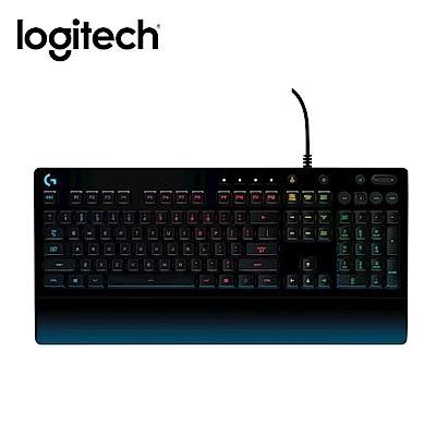 羅技G213 PRODIGY RGB游戲鍵盤 防潑濺 一體式掌墊 調整型腳架 多媒體