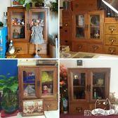 梳妝台 抽屜式木質化妝品桌面收納櫃整理木盒子梳妝台收納盒復古 第六空間