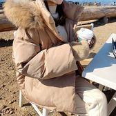 梨卡 - 甜美氣質大毛領短版防風保暖連帽鋪棉羽絨棉外套風衣短大衣AR108-1