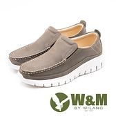 W&M 厚底真皮樂福懶人鞋 男鞋 - 鐵灰(另有藍)