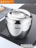 304不銹鋼飯盒學生手提保溫便當盒防燙日式飯缸1人女圓形隔熱提鍋 雙十二全館免運