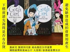 二手書博民逛書店英文原版罕見Goth Girl 系列 3本合售( 2本精裝 1本平裝較薄) Goth Girl and the G