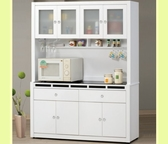 櫥櫃 餐櫃 CV-702-4 貝多美白色5尺碗櫥櫃 (全組)【大眾家居舘】