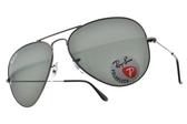 RayBan 太陽眼鏡 RB3025 00458 -58mm (槍色-綠) 熱門飛官款偏光墨鏡 # 金橘眼鏡