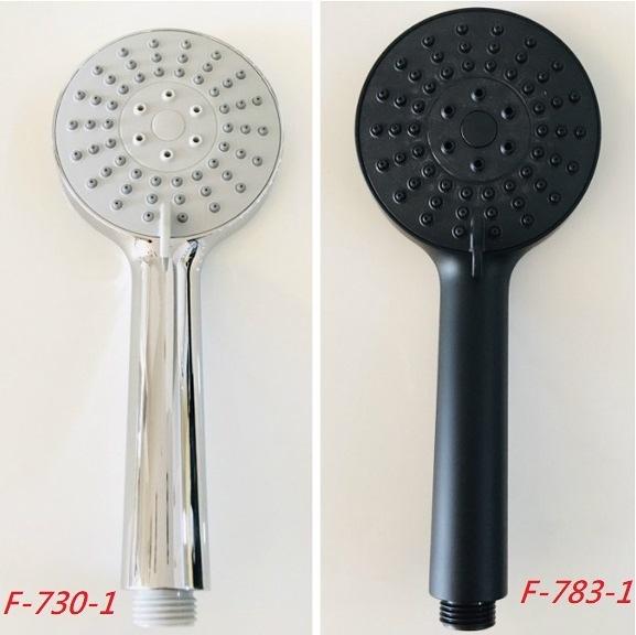 【麗室衛浴】多功能增壓省水型 三段式按摩蓮蓬頭 適用台灣規格4分 (鉻色/黑色F-783-1)