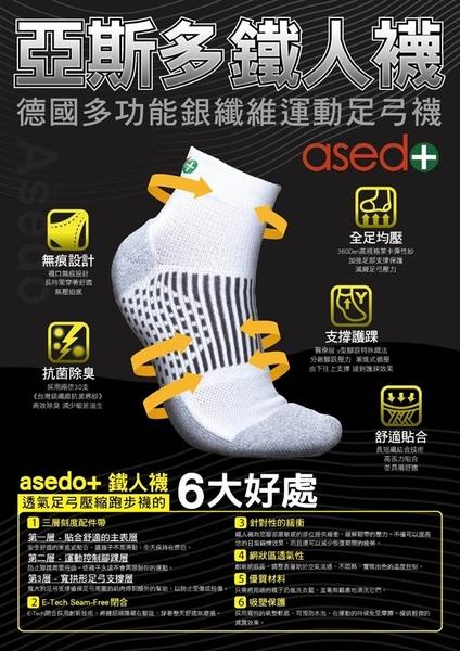 亞斯多銀離子永久消臭足弓船型襪(單入)-電電購