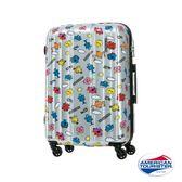 AT美國旅行者(雙色)24吋奇先生妙小姐硬殼TSA行李箱