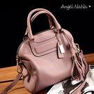 手提包。高質感 真皮 牛皮 貝殼包 女斜背包(SBA0183)AngelNaNa