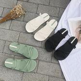 沙灘涼鞋羅馬涼鞋女ins潮夏季新款百搭平底糖果色少女沙灘時尚涼拖鞋 歐歐