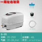 氧氣泵魚缸充氧泵大功率養魚賣魚交直流增氧泵220v夏洛特igo