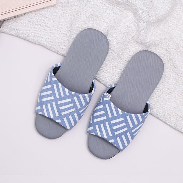 【333家居鞋館】瞬吸快乾 質感圖騰吸濕排汗拖鞋-藍色