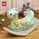 諾莎搖搖馬帶音樂塑膠加厚大號1-2周歲生日禮物玩具木馬 兒童搖馬  ATF 極有家