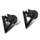 《QBOX 》FASHION 飾品【E21N539】精緻個性歐美復古潮流三角十字架鈦鋼針扣式耳環