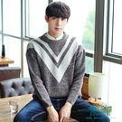 針織衫男半高領毛衣加厚打底衫