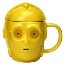 《sun-art》星際大戰人物大臉3D馬克杯附蓋(C-3PO)funbox生活用品_NR23302