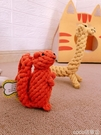 熱賣寵物玩具兩件狗玩具耐咬狗狗磨牙玩具動物繩球寵物玩具貓玩具泰迪金【618 狂歡】