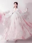 漢服白菜民族服裝漢服女古裝中國風學生仙女櫻花超仙古風套裝 雲朵走走