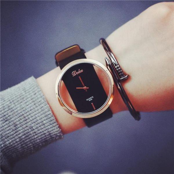創意時尚潮男女士中學生表情侶一對鏤空韓版透明個性電子原宿手表【叢林之家】