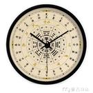 掛鐘創意藝術中式二十四節氣太極養生客廳靜音掛錶掛鐘時鐘石英鐘YYS 快速出貨