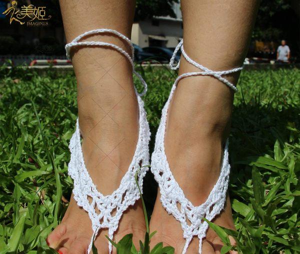 衣美姬♥歐美 腳鍊 編織飾品 海灘涼鞋 瑜珈 腳上圖騰 熱賣款 兩色可選